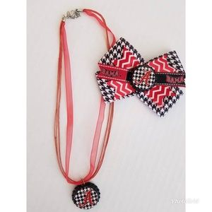 Alabama Bow & Necklace Set